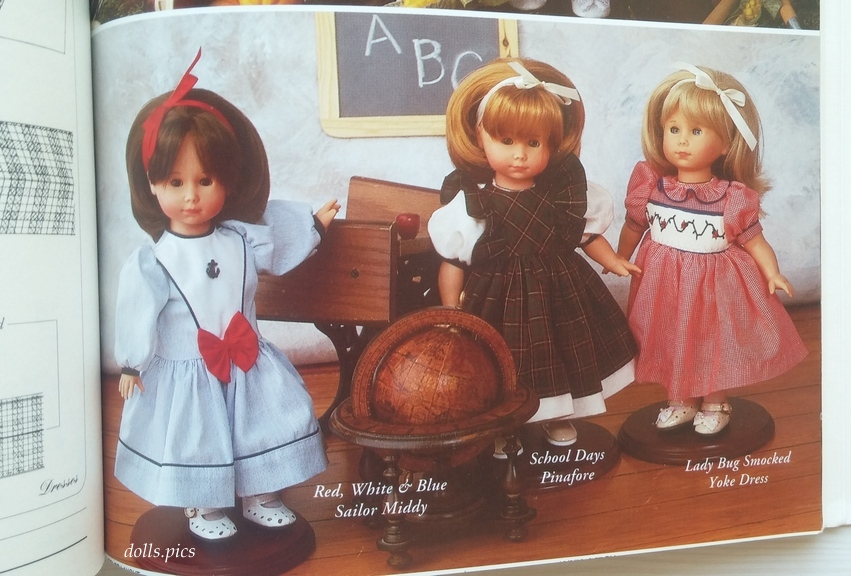 Three Best Friends Heirloom Doll Clothes by Martha Campbell Pullen