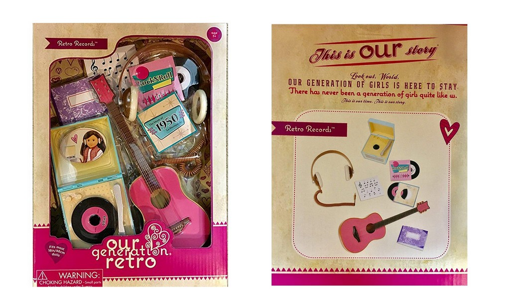 "Our Generation Retro Accessories Retro Records for 18"" dolls"